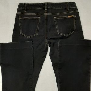 Michael Kors Dark Jeans Size 6 Boot Cut Gold